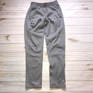 Mens Gray Under Armour Coldgear Joggers S